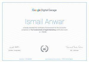 شهادة مسوق الكتروني معتمد من جوجل